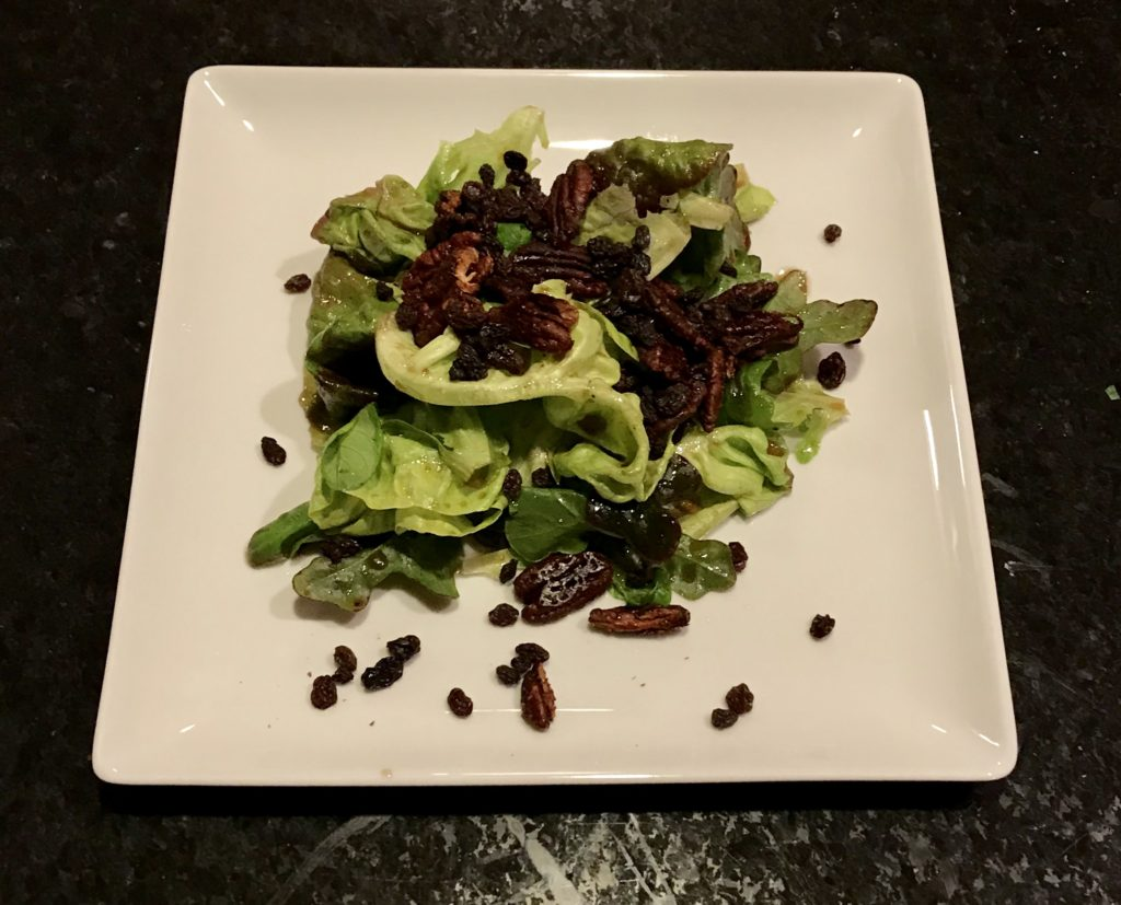Mixed Greens with Maple Glazed Pecans