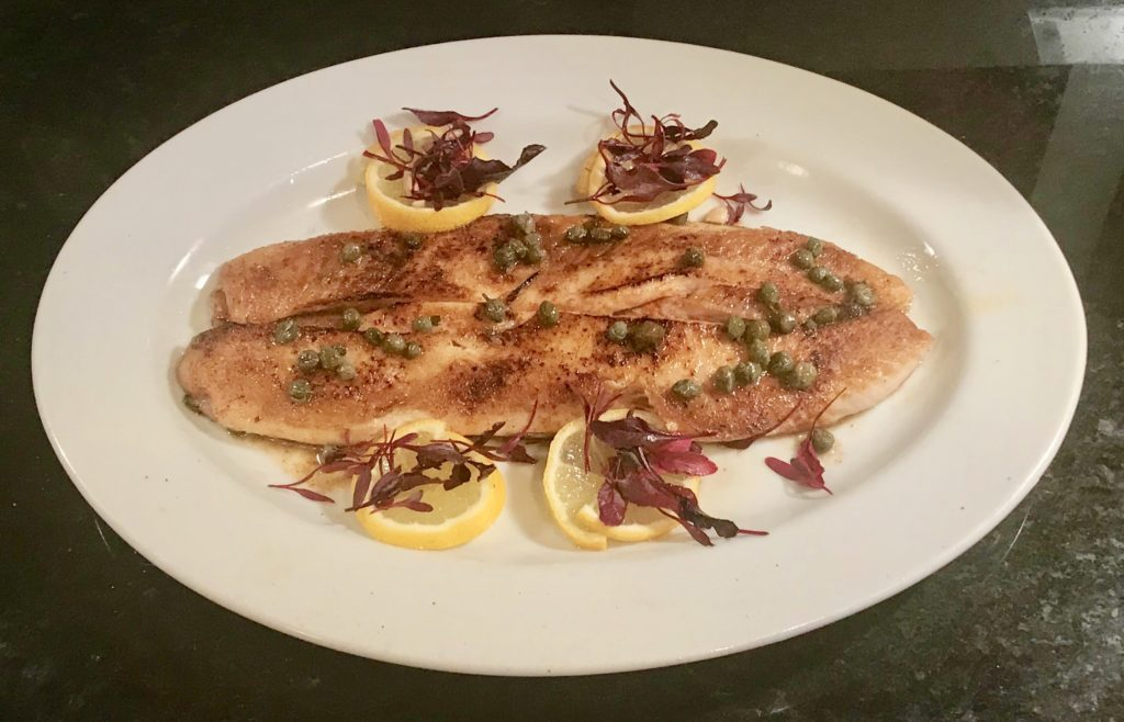 Sauteed Shad with Butter, White Wine, Lemon & Caper Sauce