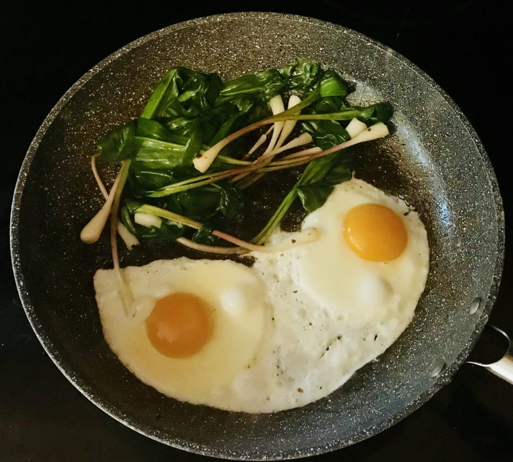 Ramps with Fried Eggs